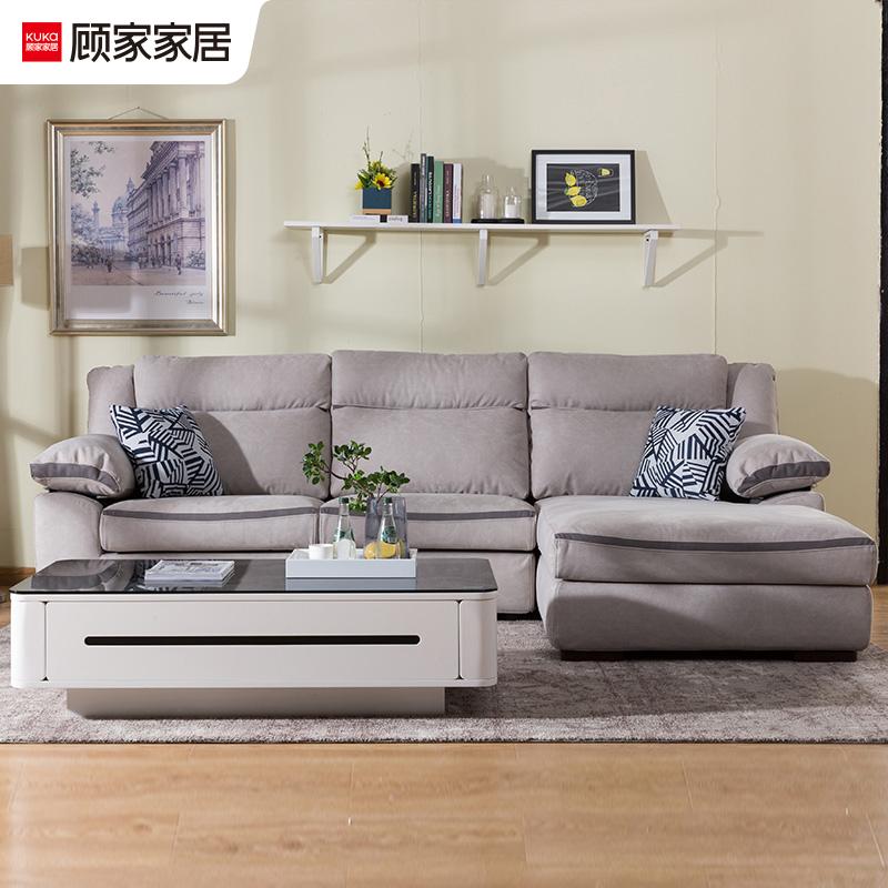 Gu Trang trí nội thất hiện đại tối giản có thể tháo rời và có thể giặt được bằng vải sợi nhỏ vải phòng khách đồ nội thất sofa khép kín BY.078 cửa hàng - Ghế sô pha