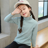 2018 new autumn girls plus velvet shirt autumn and winter children's clothing cotton long-sleeved female baby high collar bottoming shirt