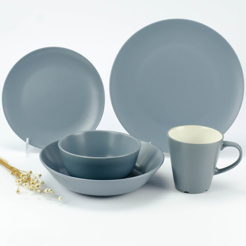 ... lightbox moreview ... & USD 12.21] Flaws pure color simple Western-style ceramic tableware ...