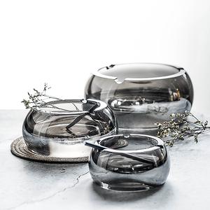 创意北欧水晶玻璃烟灰缸家用大小号烟碟个性客厅办公室雪茄烟缸