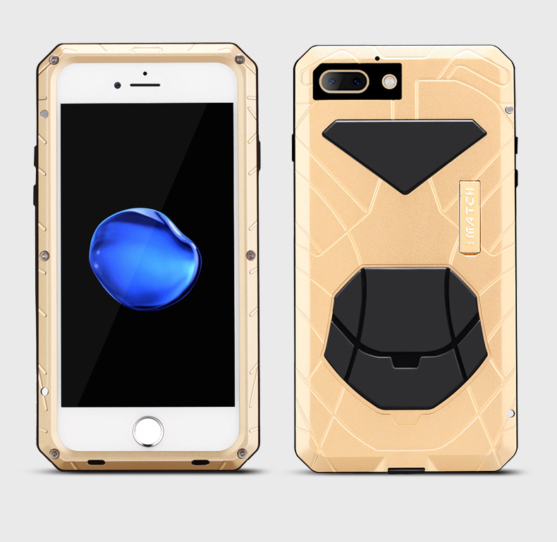 iMatch Water Resistant Shockproof Dust/Dirt/Snow-Proof Aluminum Metal Case Cover for Apple iPhone 7 Plus & iPhone 7