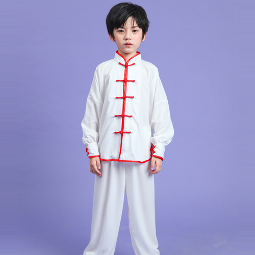 Boys Martial arts Kungfu & Tai-Chi Uniforms for Girls Children martial arts clothes cotton silk men and women martial arts clothes martial arts performance clothes long sleeve children Taiji clothes