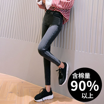 taobao agent Leggings women's outer wear spring and autumn thin style 2020 spring new high waist slim slim black pencil pants with small feet