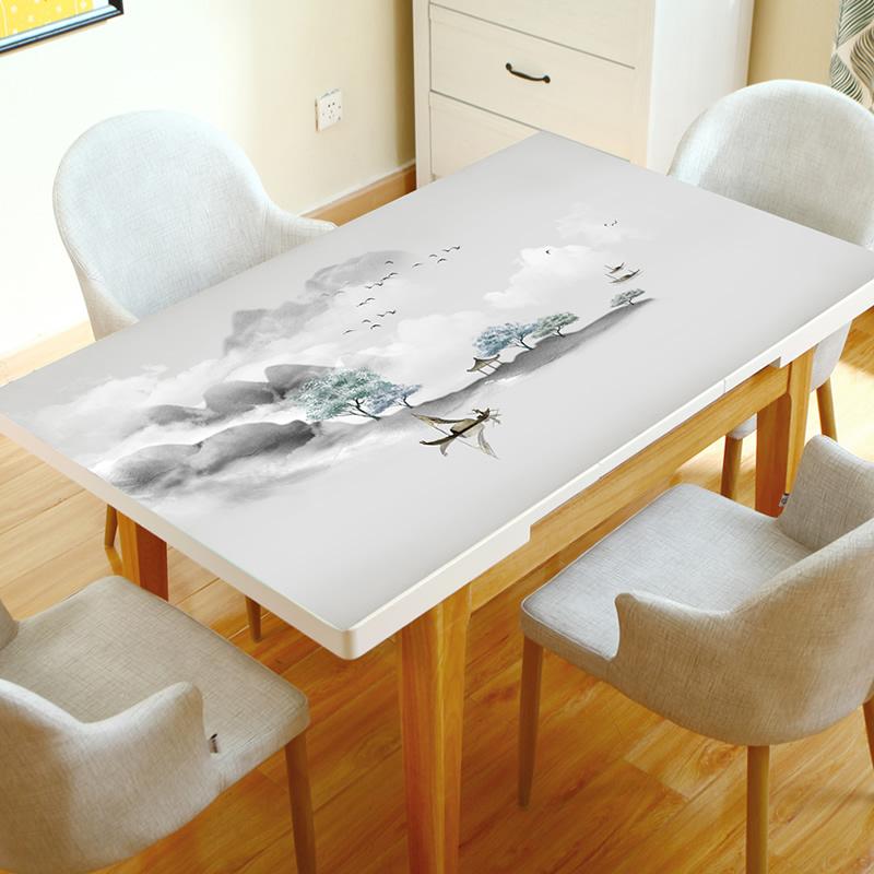 pvc防烫免洗餐厅宿舍家用塑料软妹中式桌布复古餐桌垫