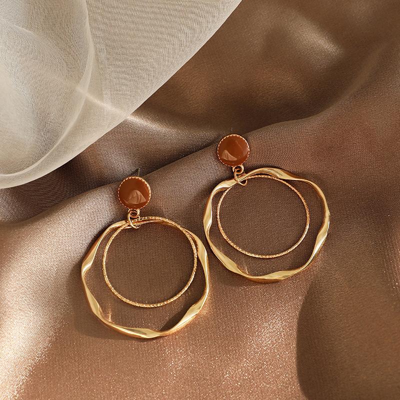 【璐菲】s925银针欧美风耳钉大圆圈耳环