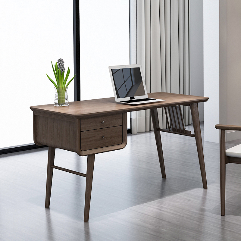 Separate desk walnut
