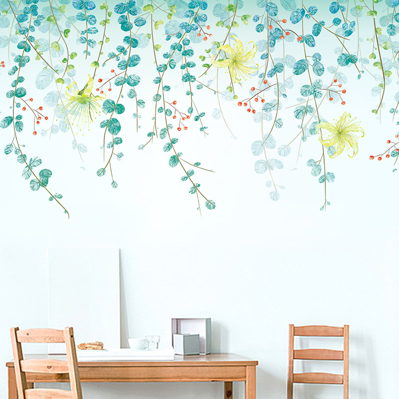 Usd 8 28 Wall Stickers Fresh And Simple Green Leaves