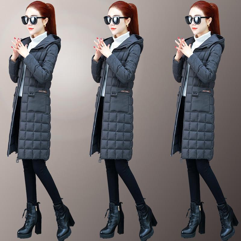 棉服女2019新款韩版修身显瘦轻薄压缩羽绒棉衣中长款棉袄外套女冬