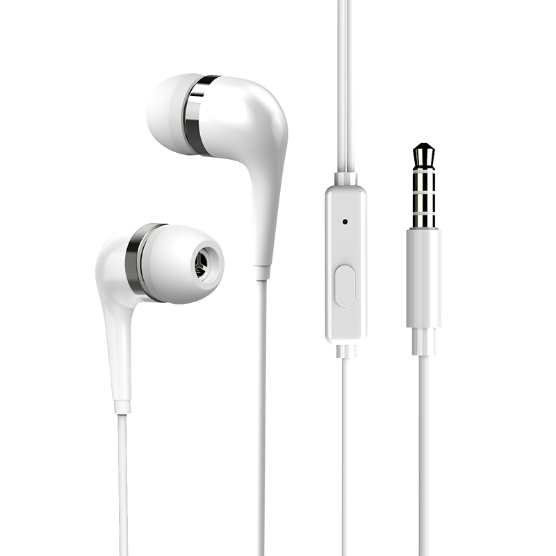 It is applicable to round-hole headphones with in-ear wired Vivo original authentic Huawei mobile phone Universal Apple 6plusK song band Mic Oppo earplug Android Xiaomi high tone headphones do not hurt the ears