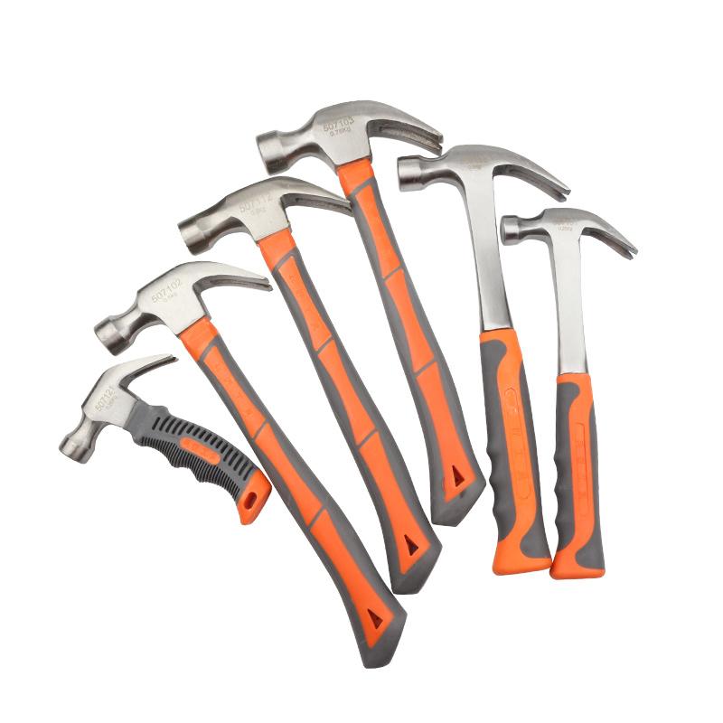 多功能迷你羊角锤木柄起钉锤木工锤小铁锤子铁榔头一体连体锤工具