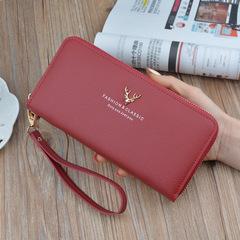 女士钱包女长款手拿包2018新款拉链多功能长款大容量皮夹手机包
