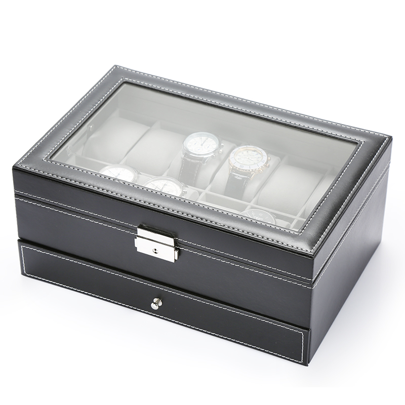 Shore Non Multifunctional Watch Storage Box Jewelry Display Box With Lock  Leather Jewelry Box Watch Display ...