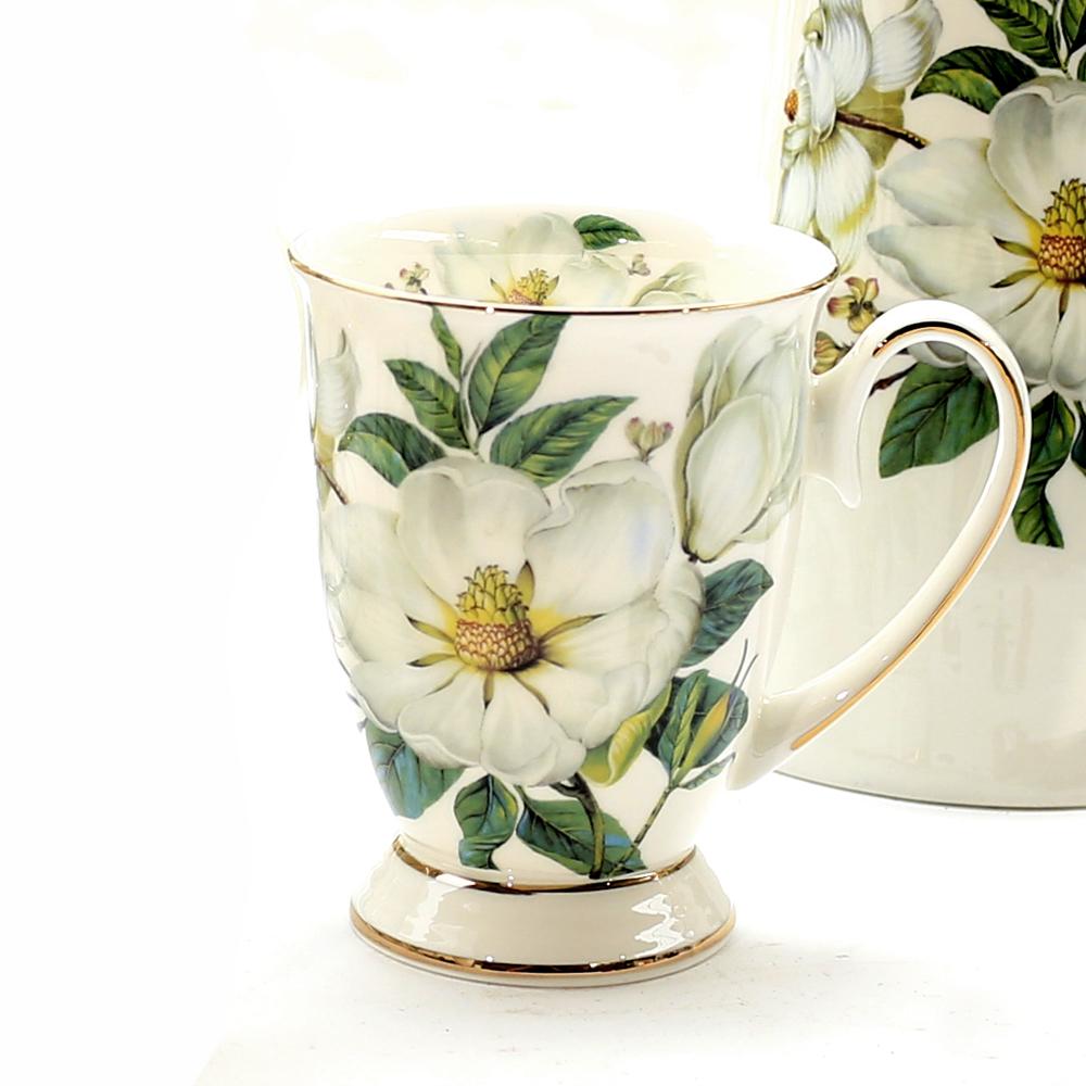 马克杯带勺创意骨瓷水杯牛奶杯陶瓷咖啡杯可爱简约早餐杯大容量