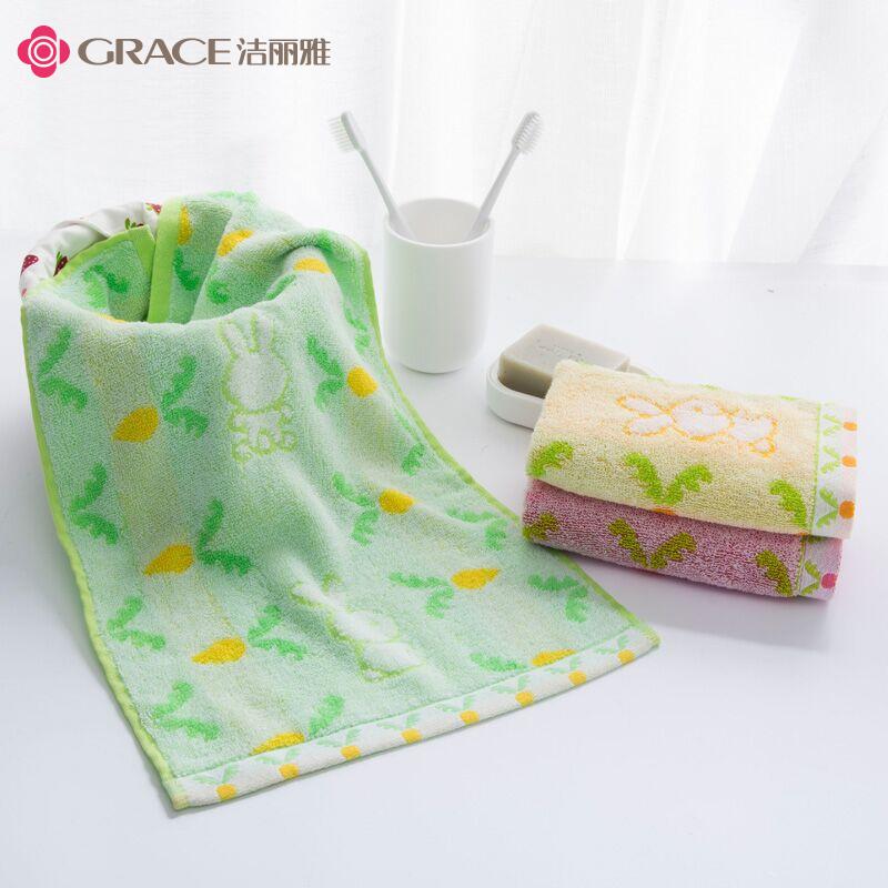 Jie Ya Tong khăn thấm bông bé mẫu giáo trẻ em phải đối mặt với khăn mẫu củ cải nhỏ mềm lint-miễn phí - Khăn tắm / áo choàng tắm