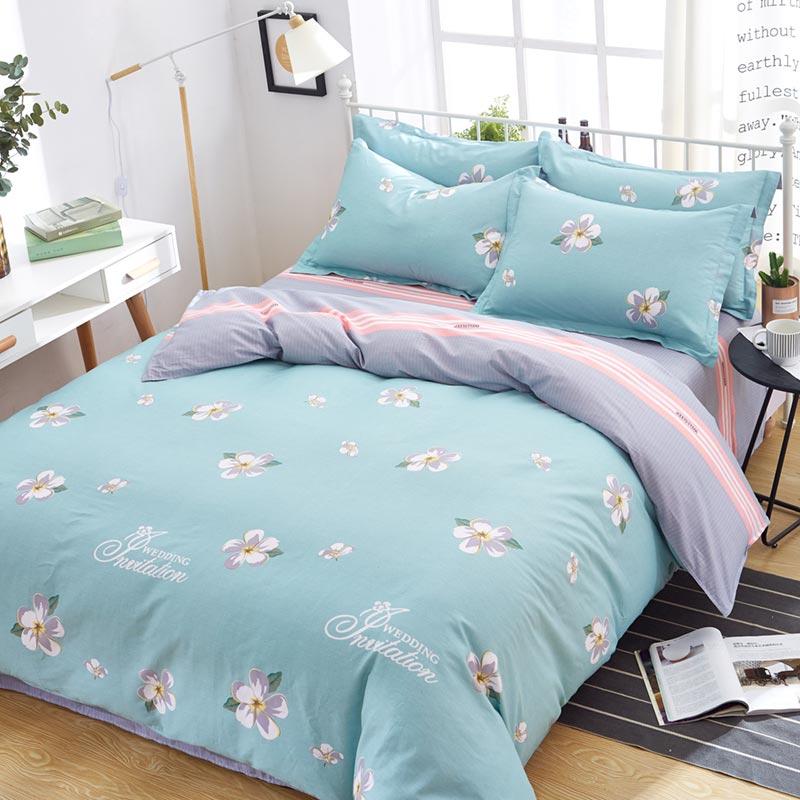 致臻全棉家纺件套四件套春夏季水星纯棉4床上双人1.5/1.8m2.0米床