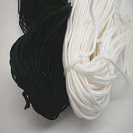 黑绳子窗帘绳1.5-2MM粗白色包芯尼龙绳百叶窗拉绳80米包邮