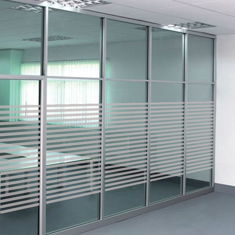 office glass doors. Office Glass Partition Anti-collision Strip Sliding Door Stickers Frosted Stripe Waist Line Film Doors