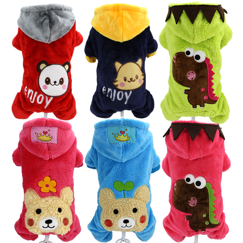 Dog clothes autumn and winter new pet coral velvet thick four-legged clothes Teddy VIP small and medium dogs dog clothes