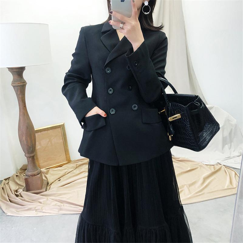 宋佳同款外套西装女法式a外套ol气质chic修身显瘦双排扣春装短款新