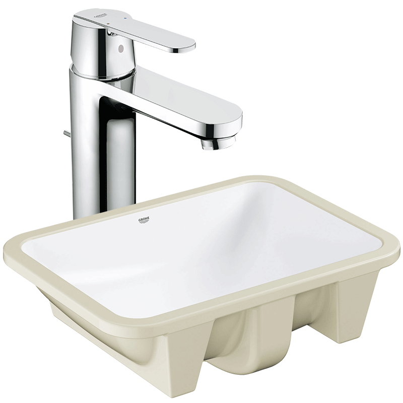 USD 1135.45] GROHE Grohe ceramic table Basin square pedestal wash ...