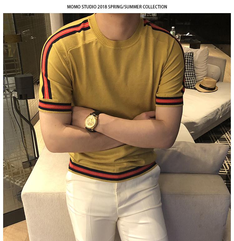 [Capricorn] 2018 nam mùa hè thời trang hoang dã tự trồng nam màu ngắn tay T-Shirt thanh niên t-shirt triều áo thun nam cao cấp