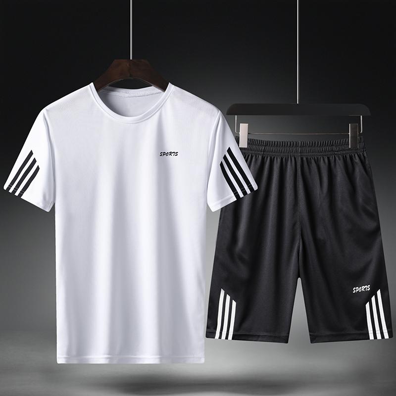 短裤男士夏季冰丝运动休闲五分裤子