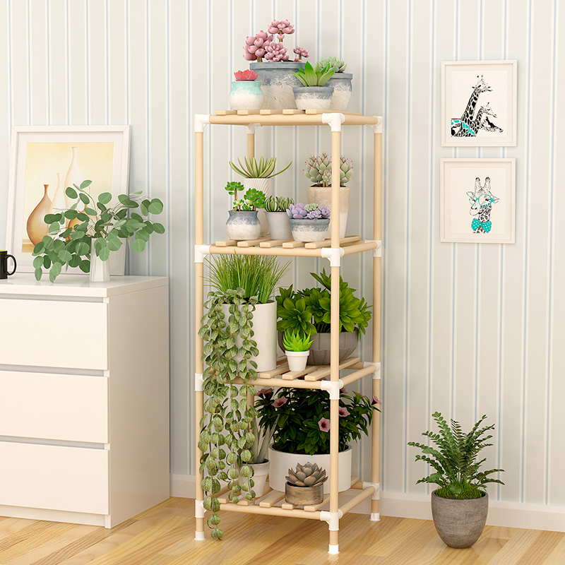 Simple solid wood shoe cabinet shoe rack rack shelf shelf bookshelf flower rack multi-layer multi-functional shelf multi-purpose shelf