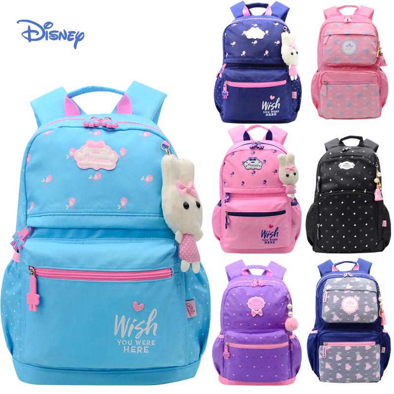 小学生书包女3-6年级韩版轻便女童可爱公主迪士尼1-2双肩包女孩