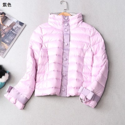 108673 Women's winter collar dark buckle long-sleeved jacket