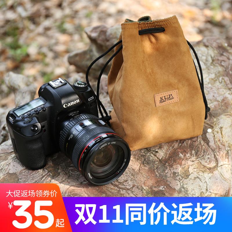 单反相机包镜头袋收纳包摄影包复古专业便携佳能尼康索尼sony微单数码相机套黑卡内胆包防水帆布保护套镜头m6