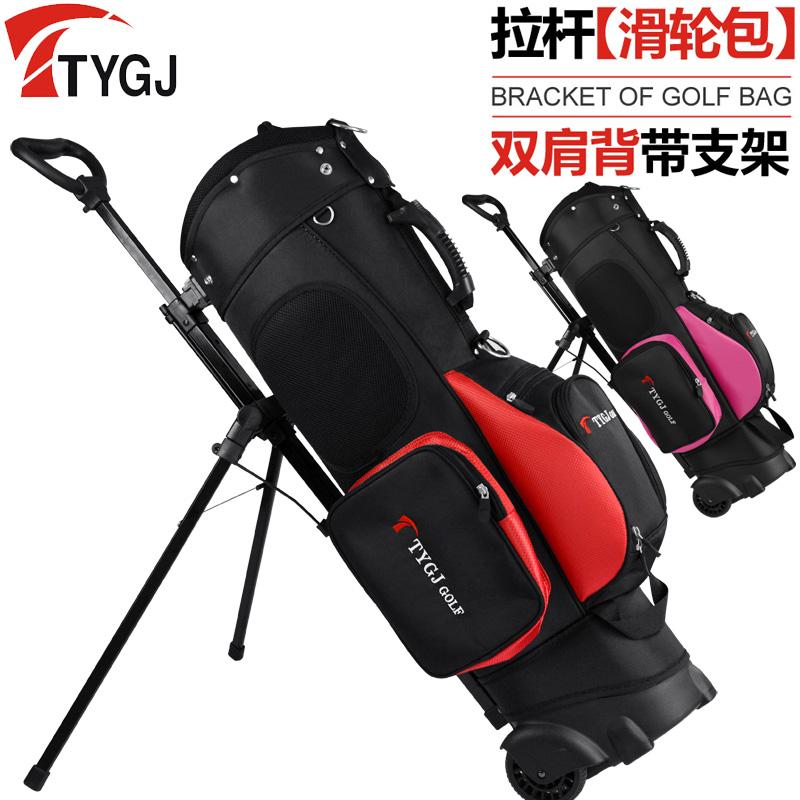 TTYGJ подлинный гольф сумка для гольфа стоять пакет тележка торможение круглый сумка для гольфа многофункциональный сумка для гольфа мужской и женщины мешок