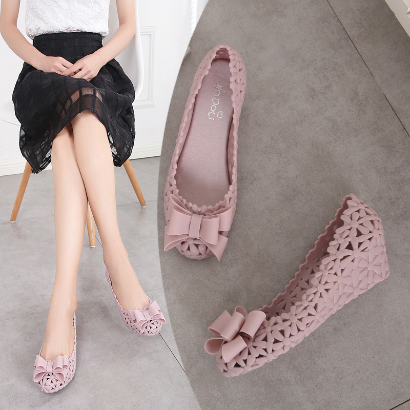 1c3c59f7f0d7 2019 summer New hollow jelly shoes female breathable slope with Roman  sandals soft non-slip · Zoom · lightbox moreview · lightbox moreview ...