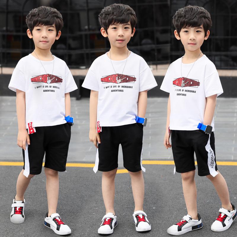 男童夏装2019新款套装夏季童装5-6-7岁儿童中大童短袖帅气两件套