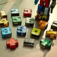 Номер слово Игрушки-трансформеры King Kong Team Car Разнообразие Робот-пазл слово Женский динозавр детские 5 мужской Ребенок 6 лет 3
