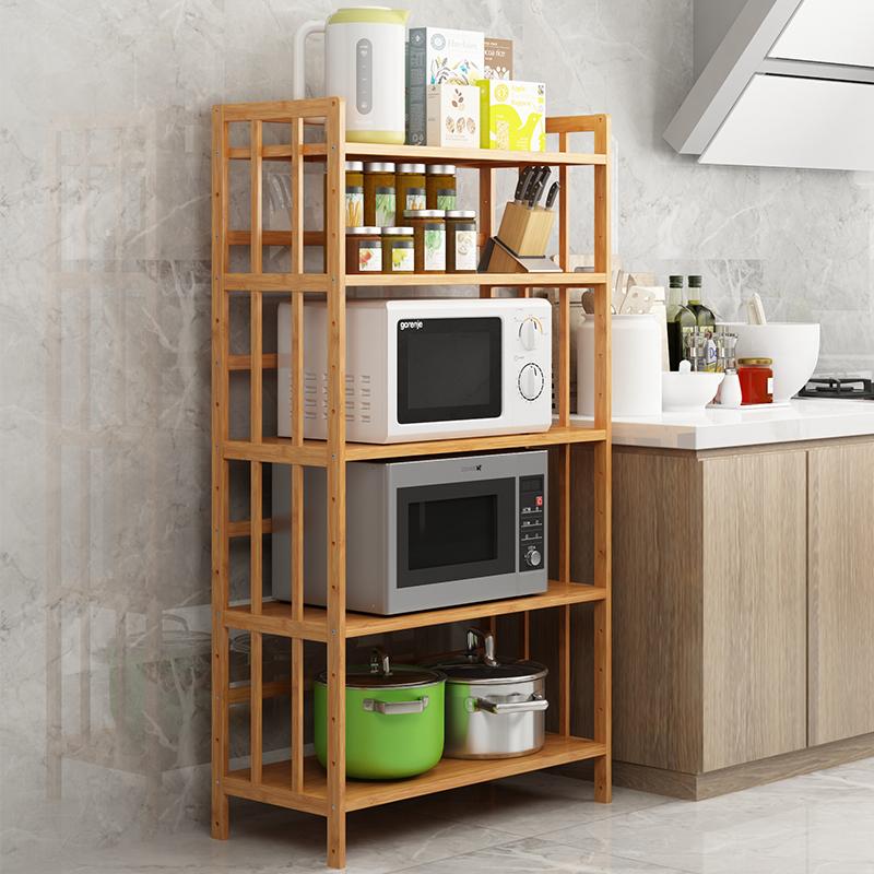 Bamboo Yaxuan Kitchen Shelf Microwave