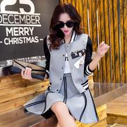 2018 mùa xuân mới dài tay áo khoác đồng phục bóng chày Hàn Quốc phiên bản của bộ váy thủy triều tự trồng cao đẳng gió áo khoác ngắn nữ