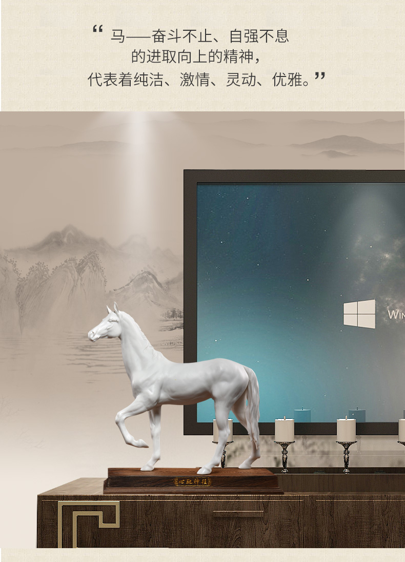 Oriental clay ceramic horse furnishing articles master of its art creative office decoration gifts/with longing