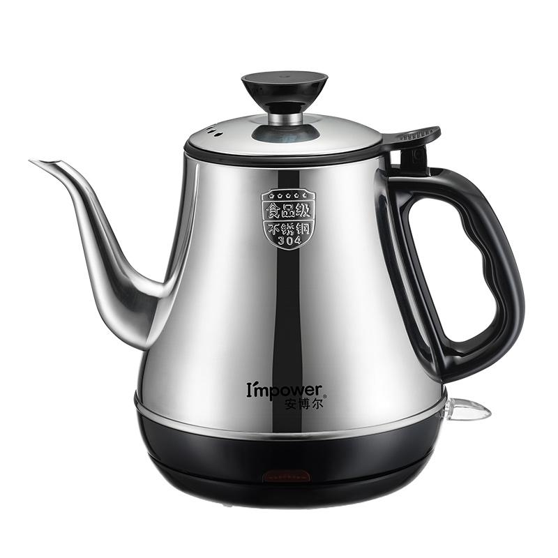 安博尔电热水壶家用泡茶烧水0.8L容量自动断电不锈钢电烧水壶3088