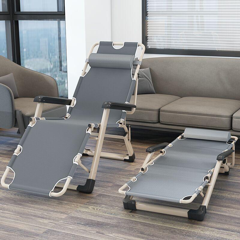 躺椅折叠午休午睡办公室神器床阳台家用沙滩靠背休闲便携折叠椅子