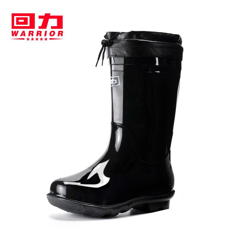 f173cd4c432 Pull back rain boots men's high tube rain boots plus velvet waterproof  shoes non-slip kitchen work shoes water shoes rubber shoes overshoes