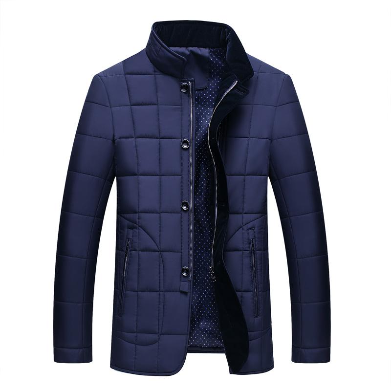 中年男士棉袄子2019新款中老年棉衣冬季外套爸爸冬装加厚立领棉服
