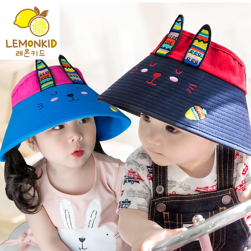 4212158b6f9 Children s sun hat summer baby sunscreen hat tide male girls sun hat baby sun  visor cap