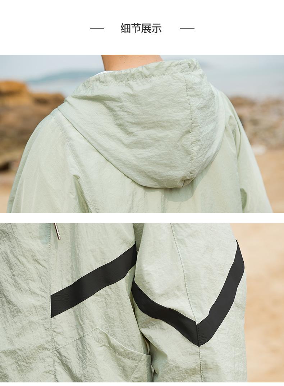 2018 mùa hè mới Hàn Quốc phiên bản của lỏng mặt trời bảo vệ quần áo nam nhỏ tươi dài tay áo khoác vài áo khoác phần mỏng thanh niên