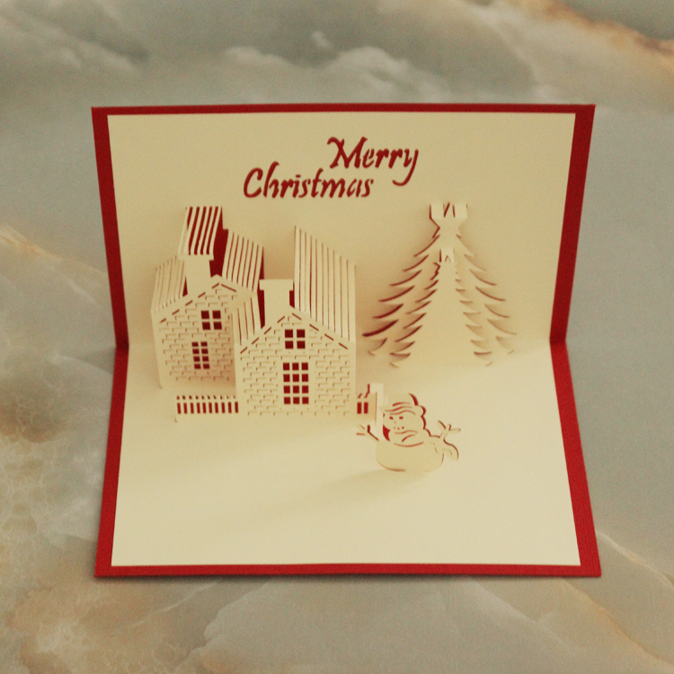 Usd 517 christmas castle 3d three dimensional greeting card hollow lightbox moreview lightbox moreview m4hsunfo