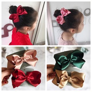 Korean children's hair accessories girls hairpin princess hairpin big bow side clip baby top clip girl hair tie