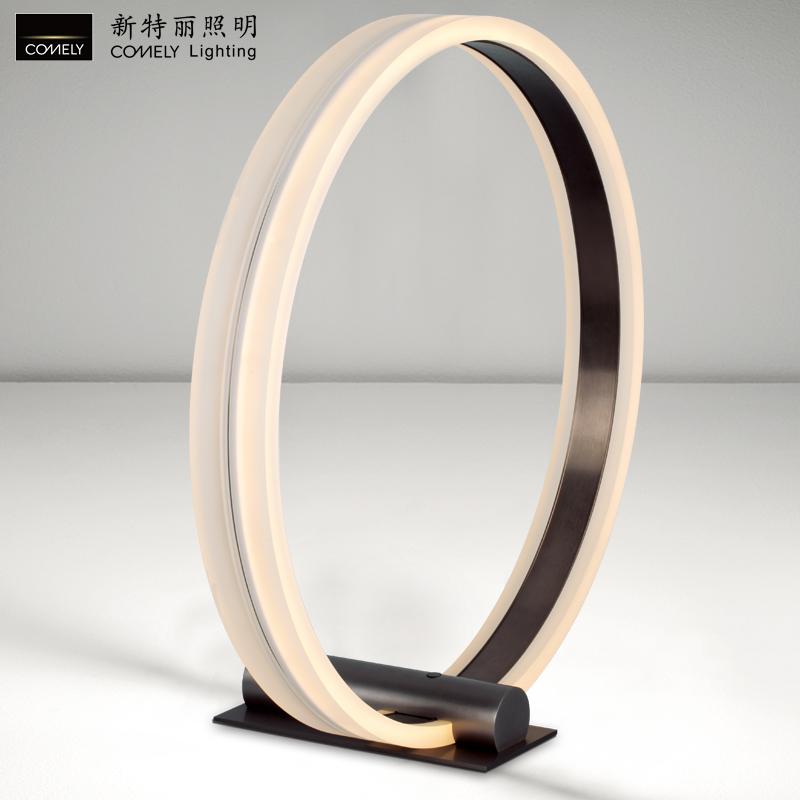 新特麗臺燈創意led觸摸調光辦公臥室床頭裝飾桌面燈簡約現代個性