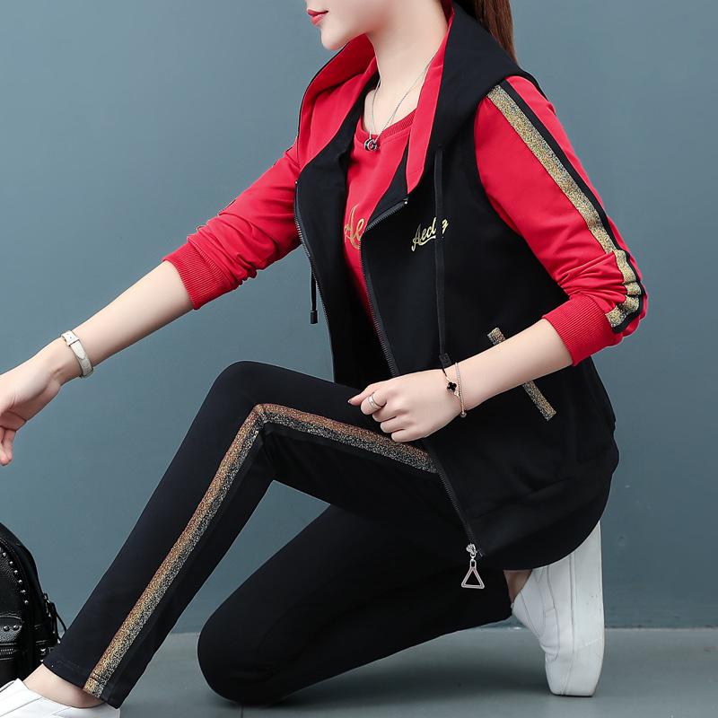 【SF】韩版运动服套装休闲跑步三件套