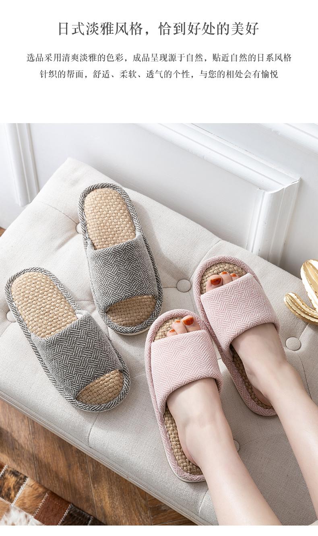 dép vải gia đình trong nhà Xuân Thu sàn vải cotton dép phòng ngủ trượt câm nam nam mát mẻ mùa hè