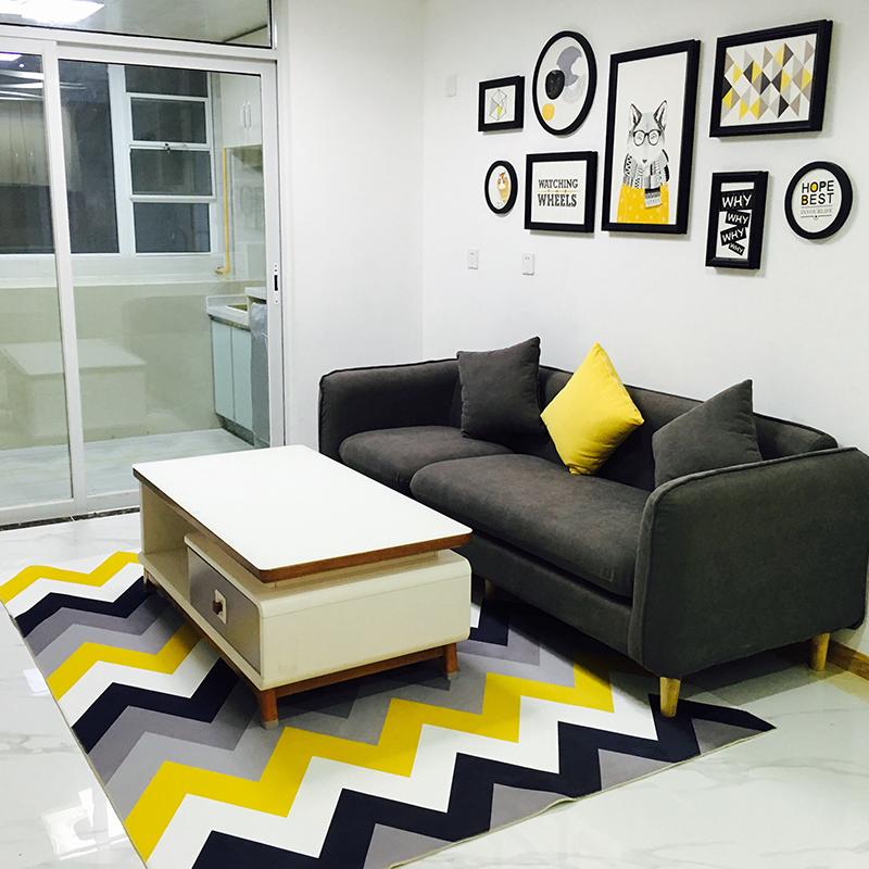 Strange Simple Modern Ikea Geometric Carpet Living Room Coffee Table Machost Co Dining Chair Design Ideas Machostcouk