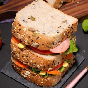 全麦面包粗粮吐司整箱600g无蔗糖健身代餐早餐食品切片小包装